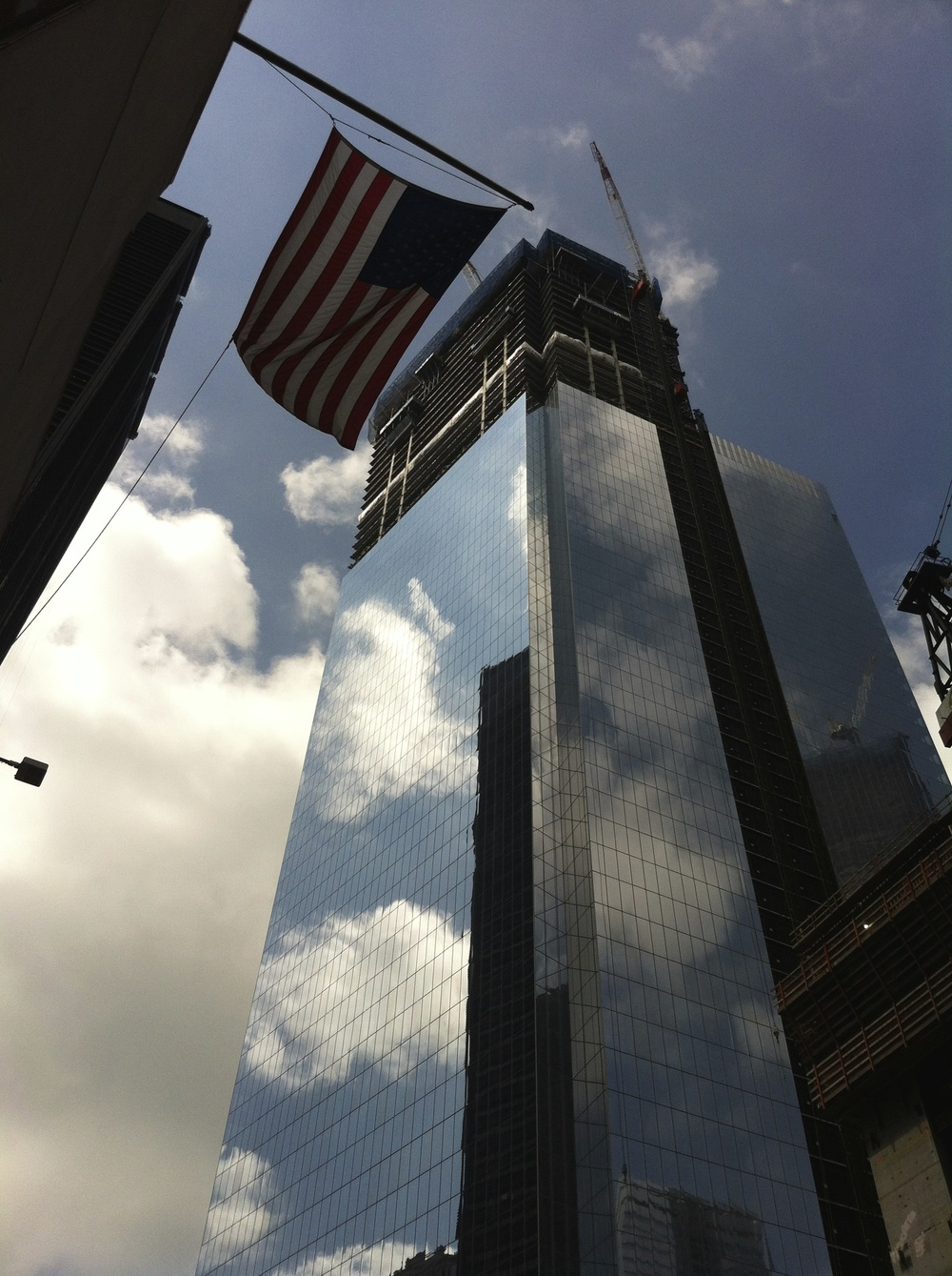 the freedom tower was almost done! i can't wait to revisit the world trade center memorial