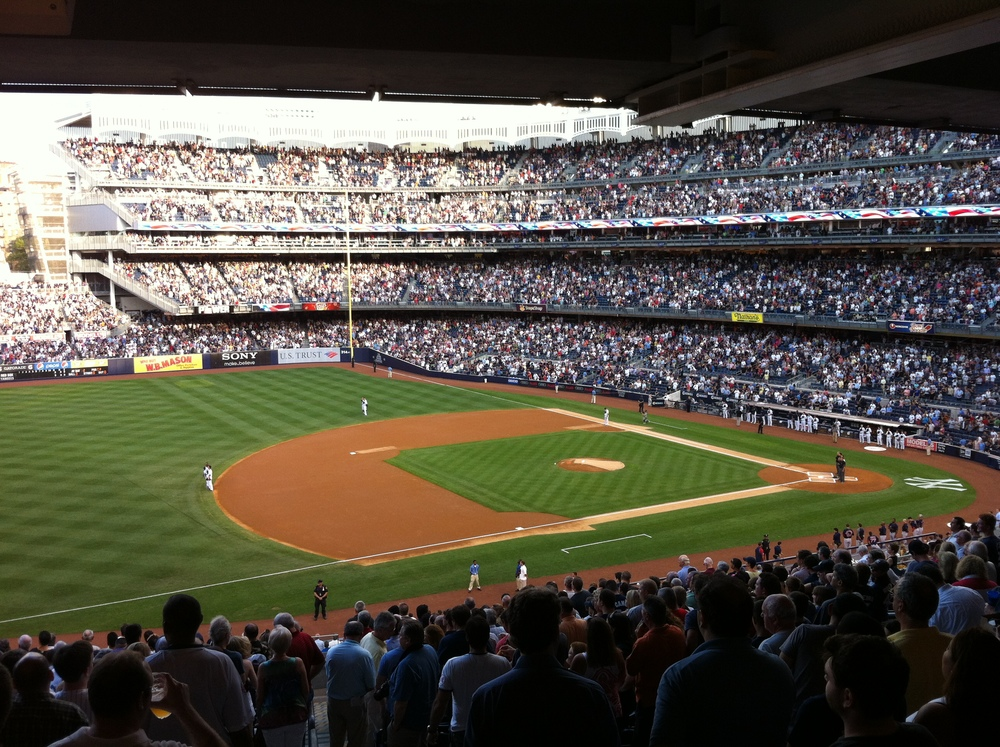 one of the best baseball games i've been to! yankee's vs red sox, there was a grand-slam and everything! great experience!