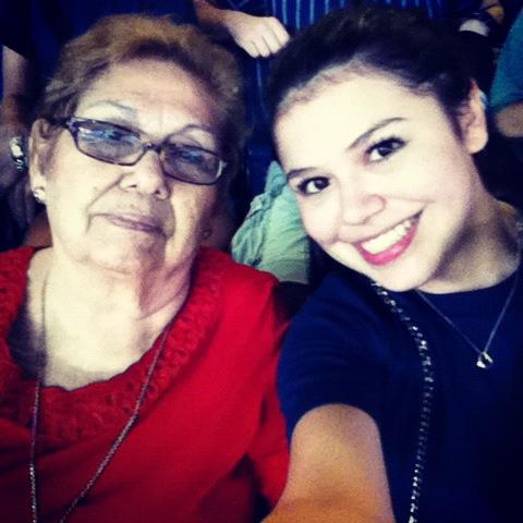 granny, enjoying the game!