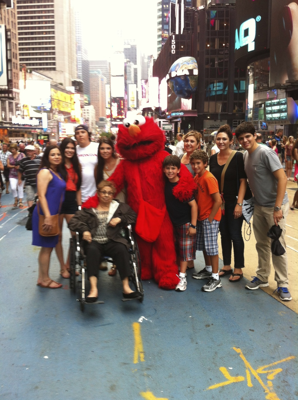 i have no idea why elmo was in the picture, everyone was confused whenever we finished taking this picture! lol