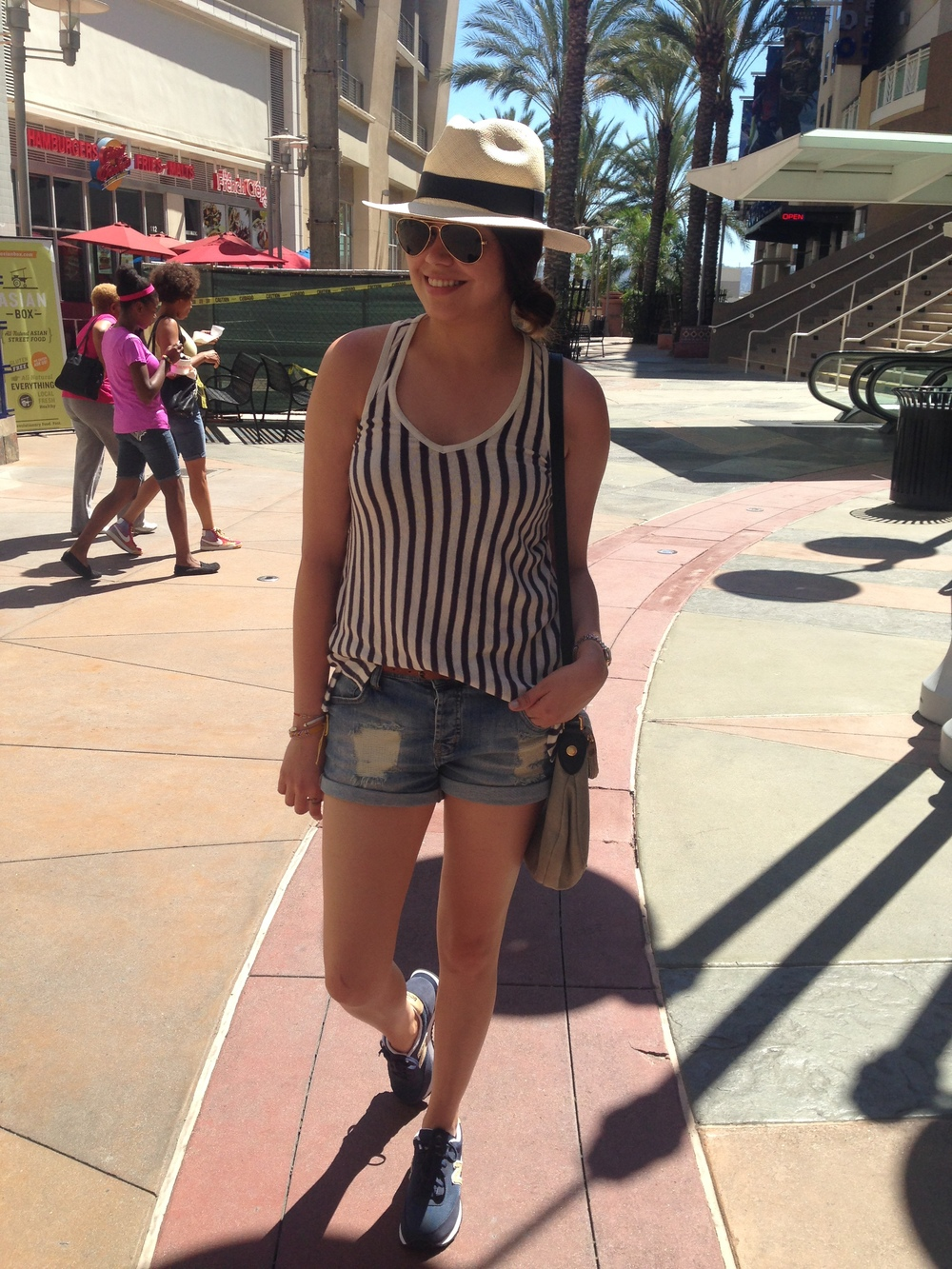 walking downtown burbank to the movie theater!