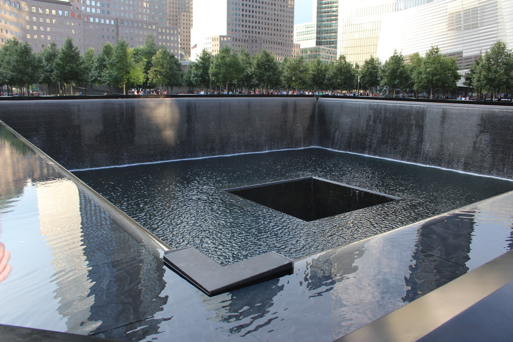 the 9/11 memorial is gorgeous! you just can't help but choke up when being there! all the names of the victims are engraved which is really nice but being there and seeing everything, i don't know.. it's just emotional and unreal!