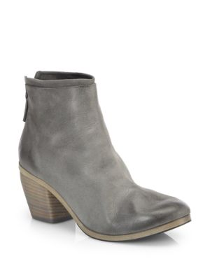 Marsell Suede Wooden Heel Ankle Boots