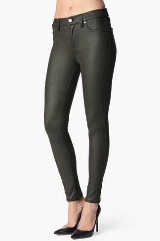 The Seamed Skinny In Leather-Like Mink