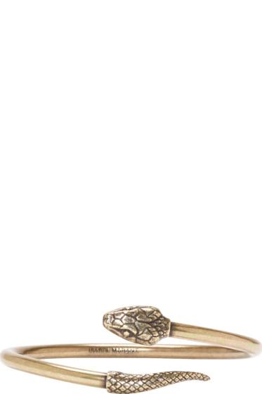 Isabel Marant Brass Snake Bracelet
