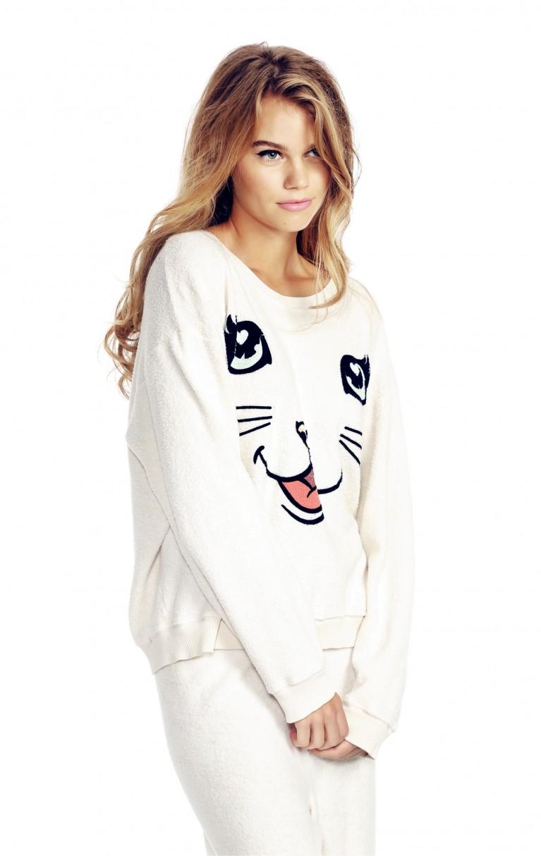 Happy Cat Oversized Sweatshirt