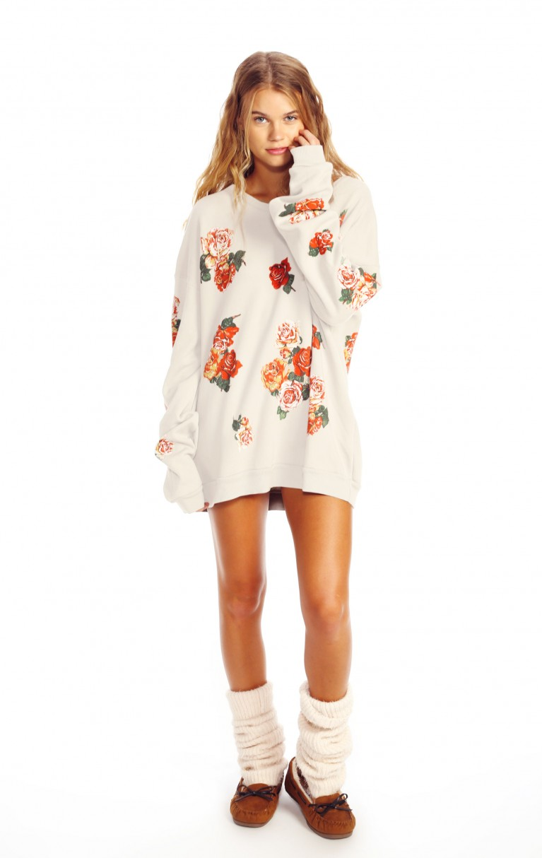 Rose Collage Barefoot Sweater