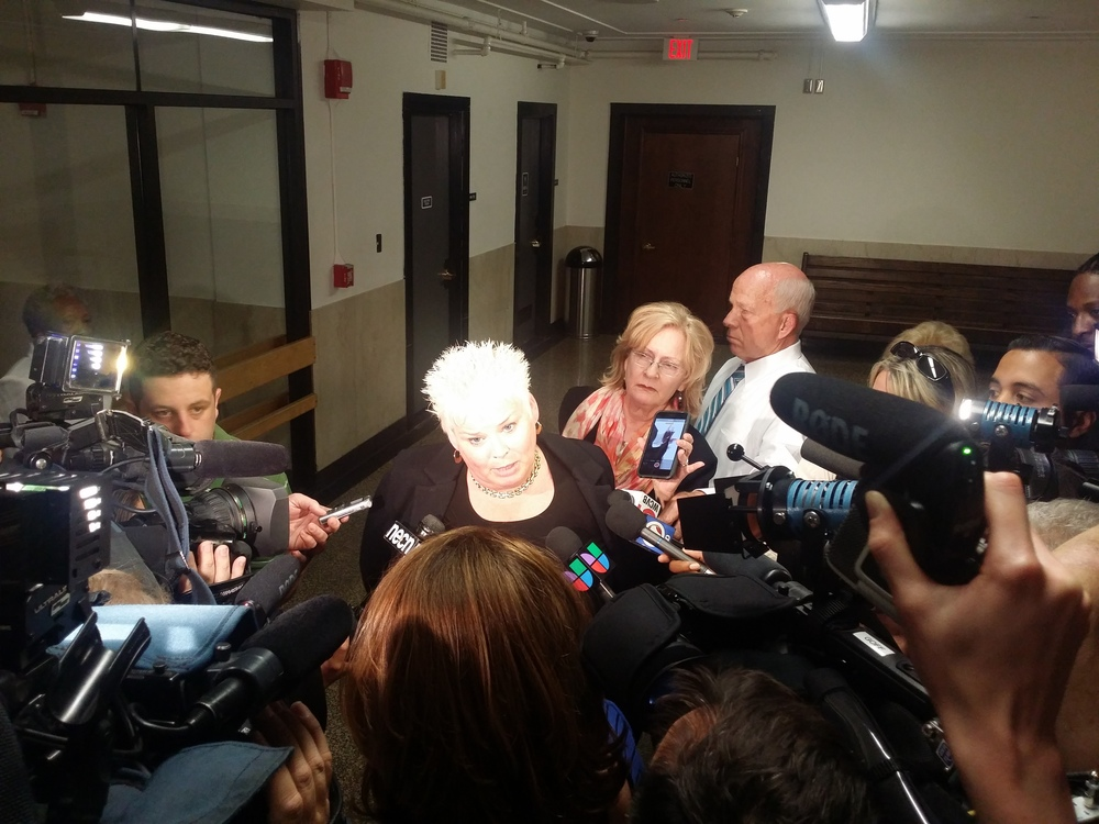 Attorney Rosemary Scapicchio speaks to the press after Sean Ellis was granted bail.