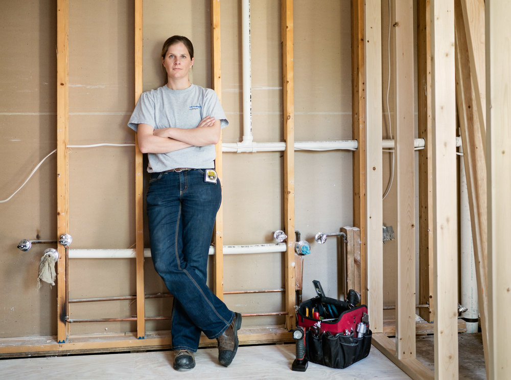 Jessie, Master Plumber and Company President // 1.6% of Pipelayers, Plumbers, Pipefitters, and Steamfitters are Women