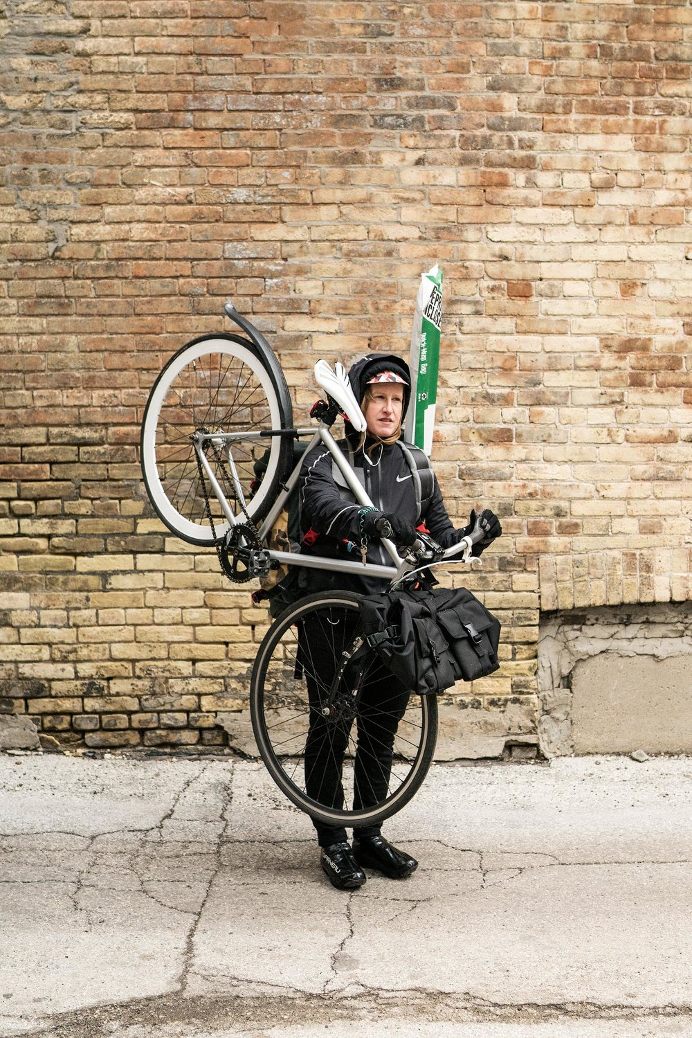 Heather, Bicycle Messenger and Bicycle Mechanic // 16% of Couriers and Messengers are Women