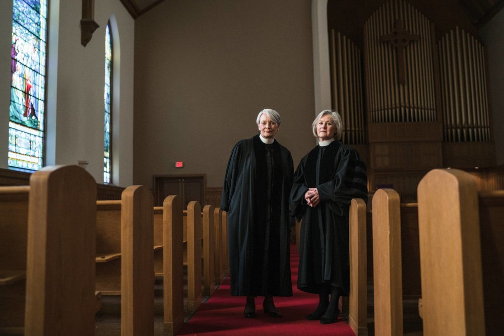 Jean & Deborah, Pastors // 17.6% of Clergy are Women