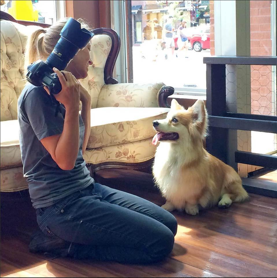Merci au Doggy Café pour cette photo de moi et Capitaine!