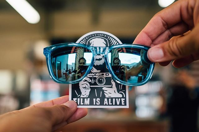 Film is Alive and wears cool sunglasses 😜 #bcknocks  and @themikepadua united during last night's  #beersandcamers #reflectionSelfie