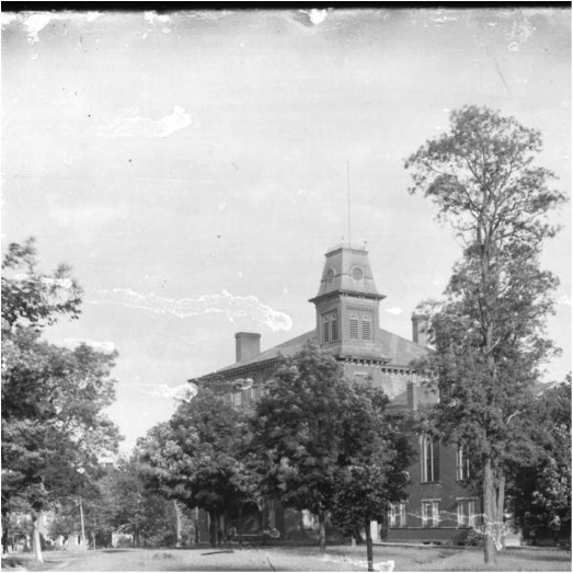 Old Main Hall at Miami University from 1896