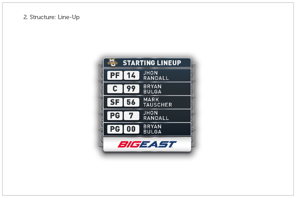 Big East Conference / Game Graphics / Option 2