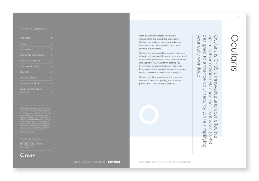 OnSSI Ocularis 5.0 / Branding / Brochure