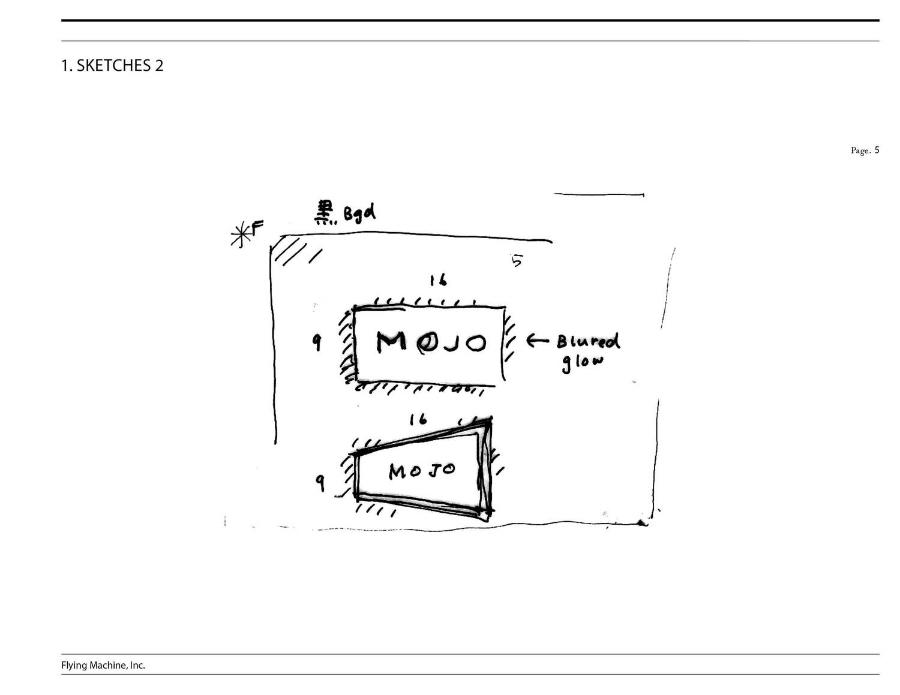 Mojo Branding / Brand Identity Sketches