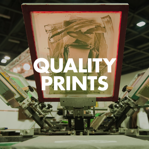 We strive to make the best quality prints by using high quality paper and inks.