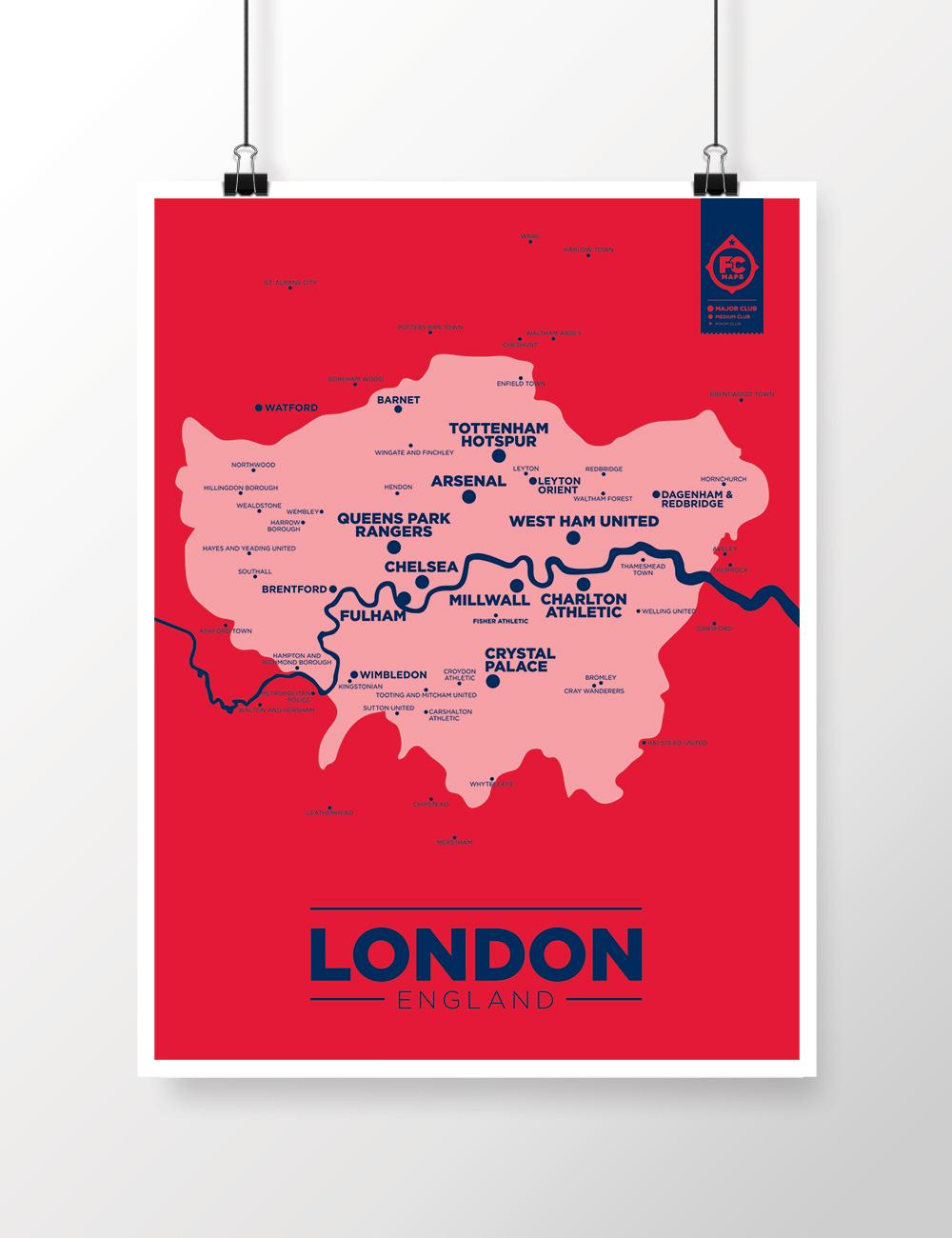 Map Of London Soccer Teams.London Map Football Club Maps
