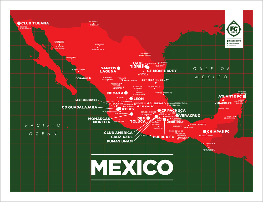 Map Of London Soccer Teams.Mexico Map Football Club Maps