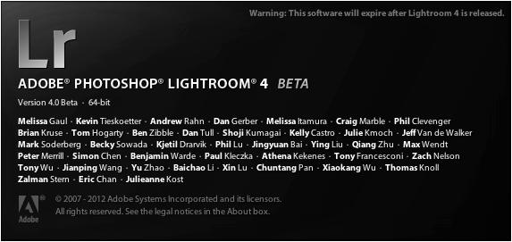 Lightroom 4 Beta