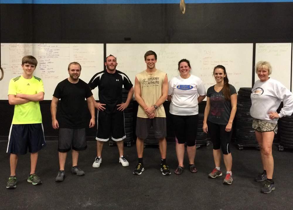 From left to right:Evan,Tony,Adam,Matthew,Leah,Jenni,Kim