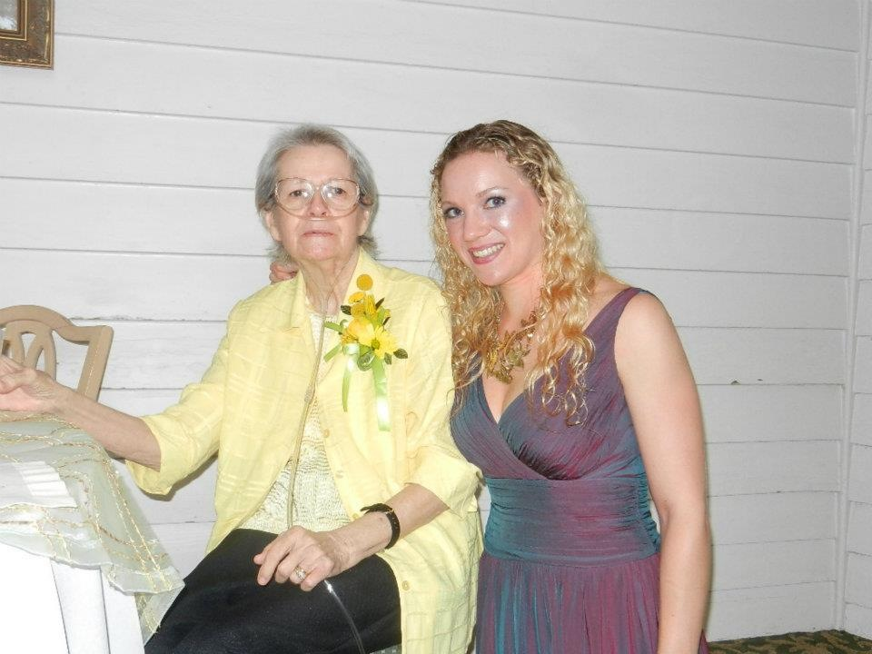 Granny and me at my brother's wedding.