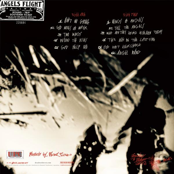 Dead Rock West Vinyl LP & CD (2011). Art Direction & Packaging Design. Photographer Jim Herrington. Hand Lettering by Exene Cervenka. Back cover of the Vinyl version.
