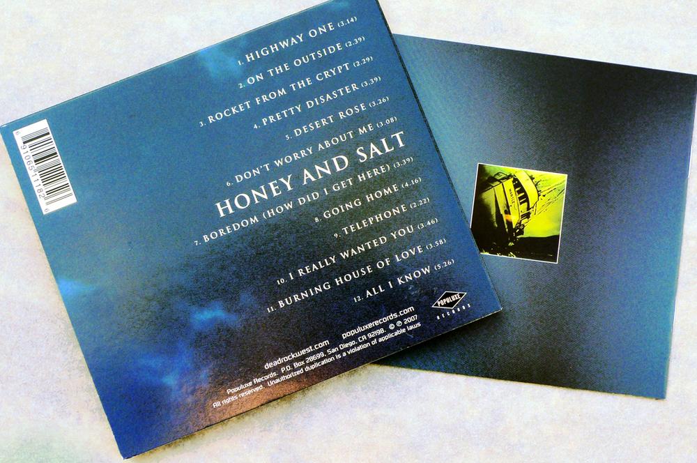 Dead Rock West CD (2006). Art Direction & Packaging Design. Photographer Frank Lee Drennen. Back cover and back booklet.