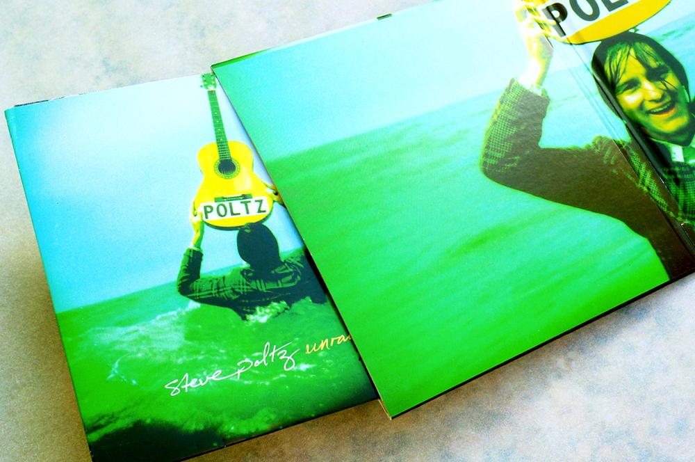 Steve Poltz CD + Bonus CD (2010).Art Direction & Packaging Design. Note the 'Unraveling' Bonus CD which, sold separately, was designed to slip into the 'Traveling' gatefold sleeve to complete the set.Photographer Frank Lee Drennen.