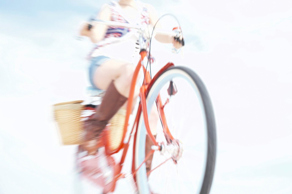 Electra Bicycle (2010).Creative & Photo Direction again for 2010 International campaign. Photographer Art Brewer. The concept was space, fun, wide open sky, beauty and simplicity of time with your Electra.