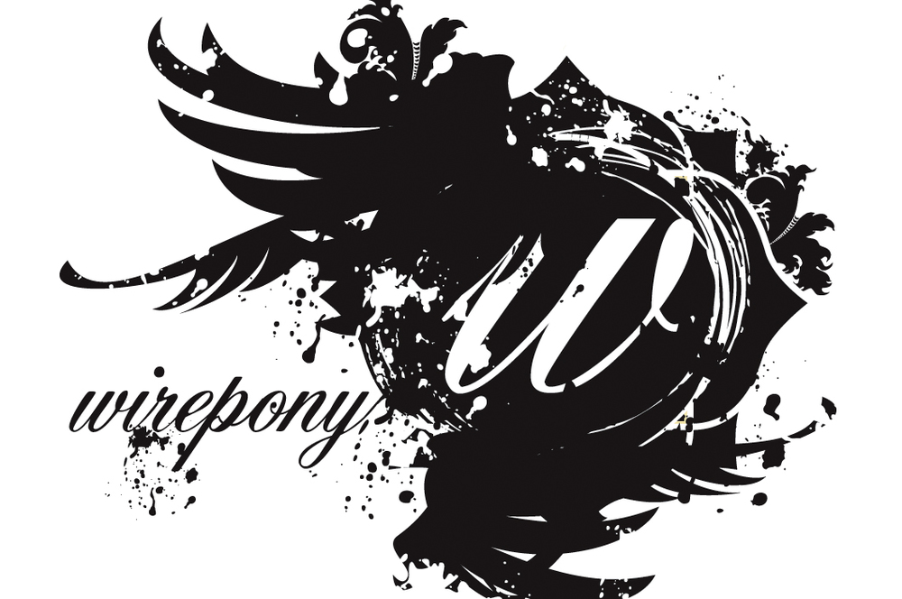 Poster Art logo for West Coast Wirepony tour (2010).