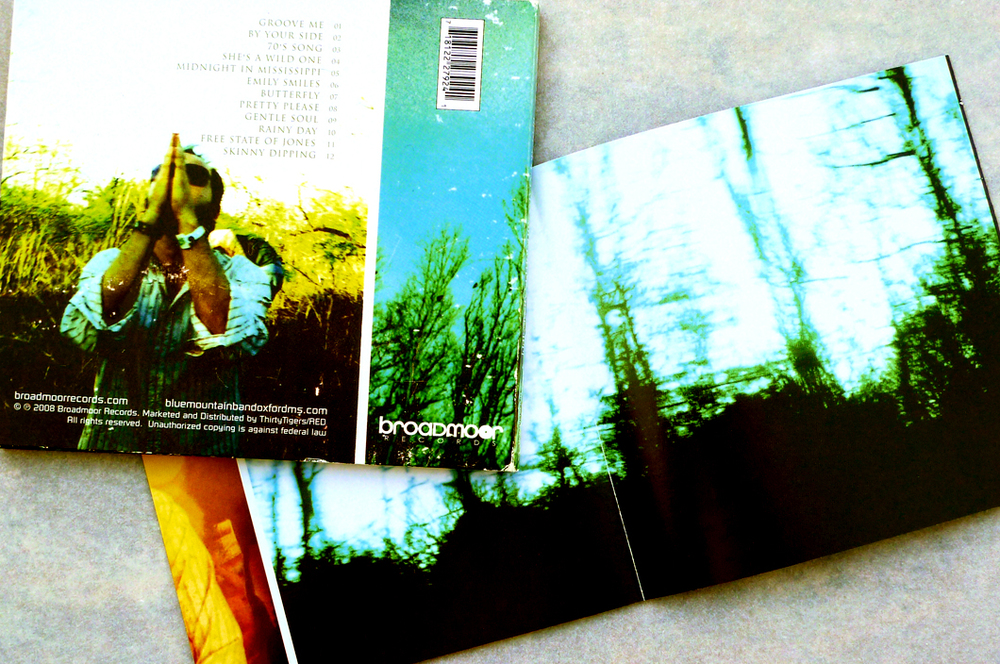 Blue Mountain CD (2010). Back Cover. Art Direction & Packaging Design. Photographer Frank Lee Drennen.