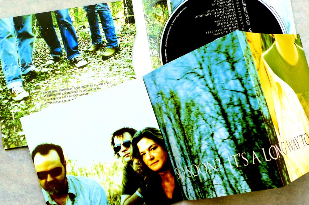 Blue Mountain CD (2010). Inside panels. Art Direction & Packaging Design. Photographer Frank Lee Drennen.