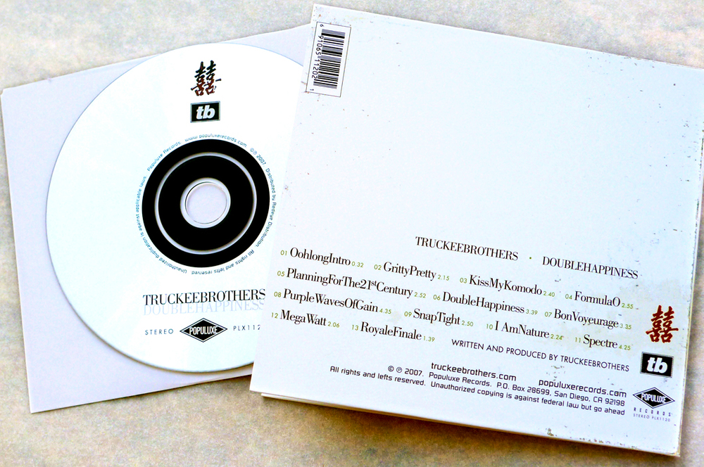 Truckee Brothers CD (2007). Art Direction & Packaging. Back Cover.