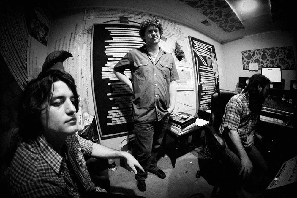 Cosmic Thug; Justin Collins, Rob Crowell and Adam Landry controlling the room. The boys in the band for 'Fürst In The Dirt' (2014). Photo Stacie Huckeba.