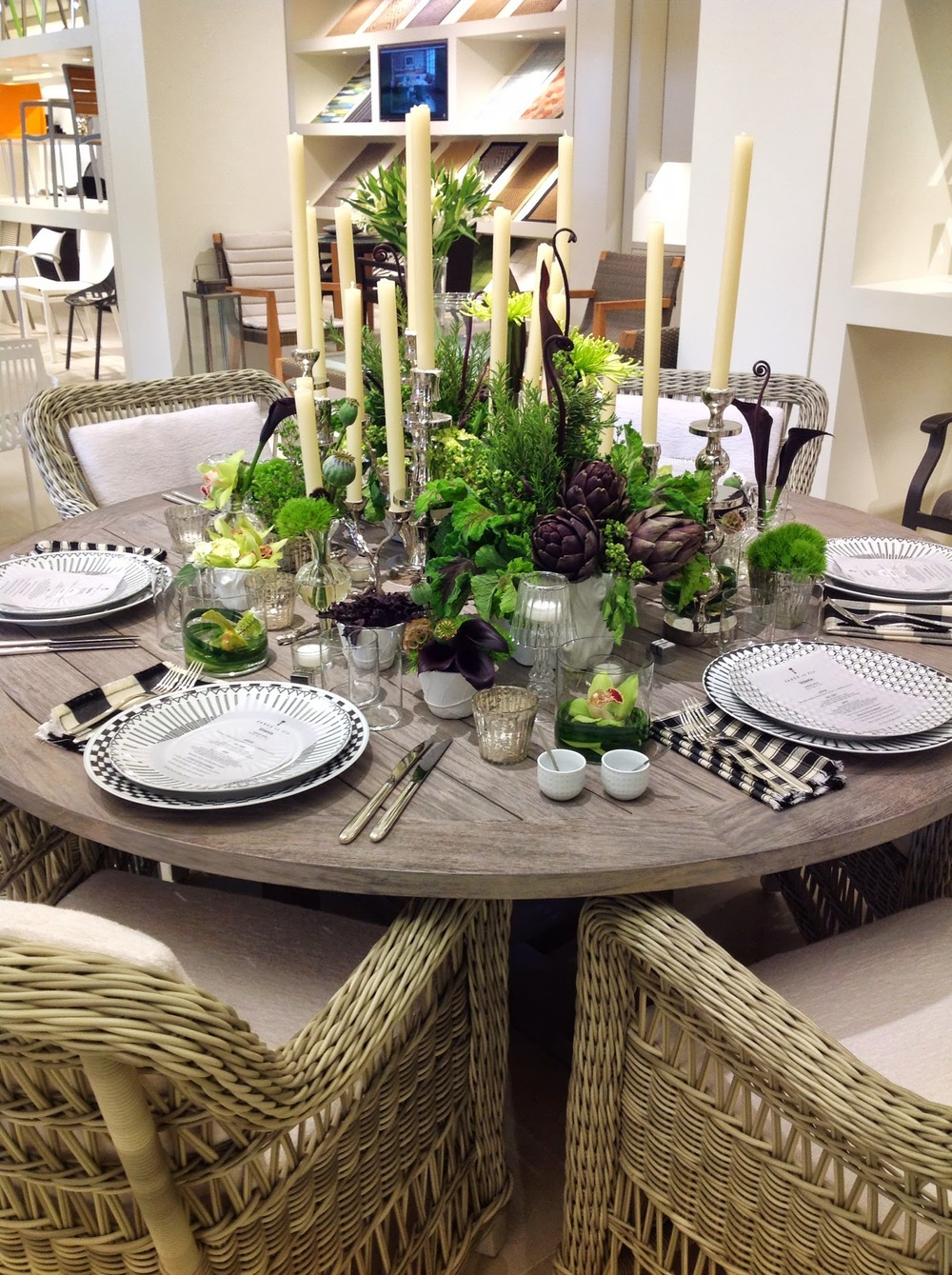 Launch Party- JANUS et Cie Modern Full Centerpiece by Maxit Flower Design in Houston, Texas