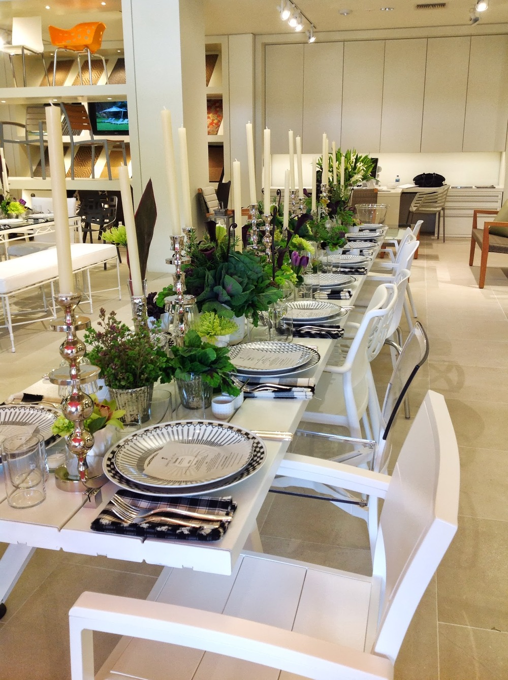 Launch Party- JANUS et Cie Table Design & Flowers by Maxit Flower Design in Houston, Texas