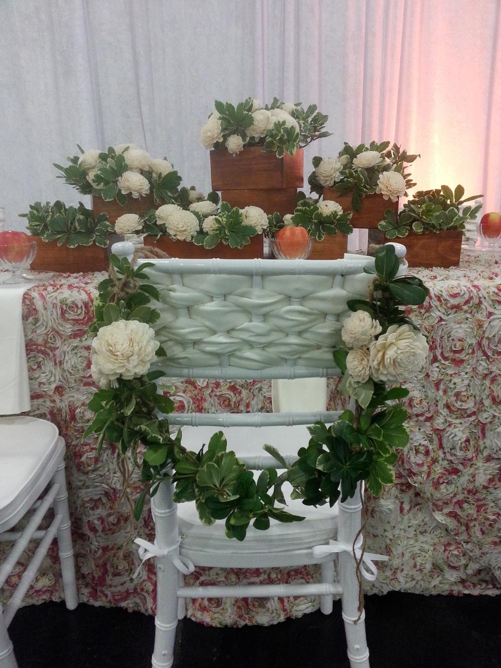 Chair Detail Flower Garland