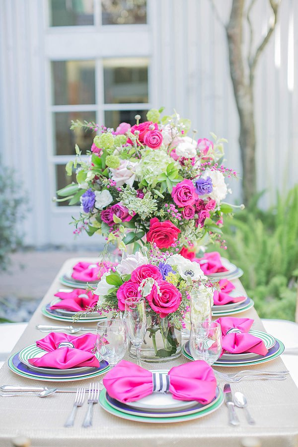 Kate Spade Photo Shoot Tablescape