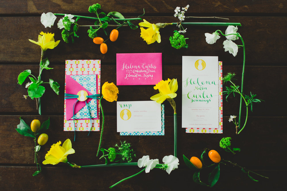Summer Citrus Invitation Suite