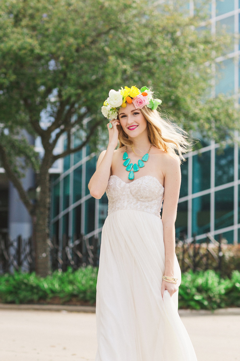 Citrus Summer Model with Kendra Scott