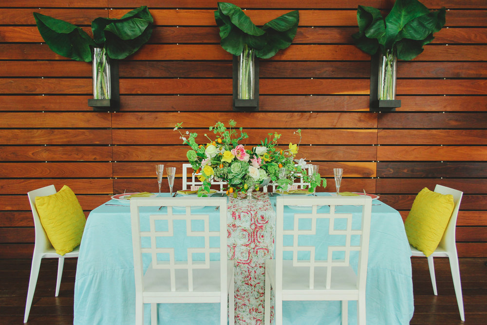 Citrus Summer Tablescape