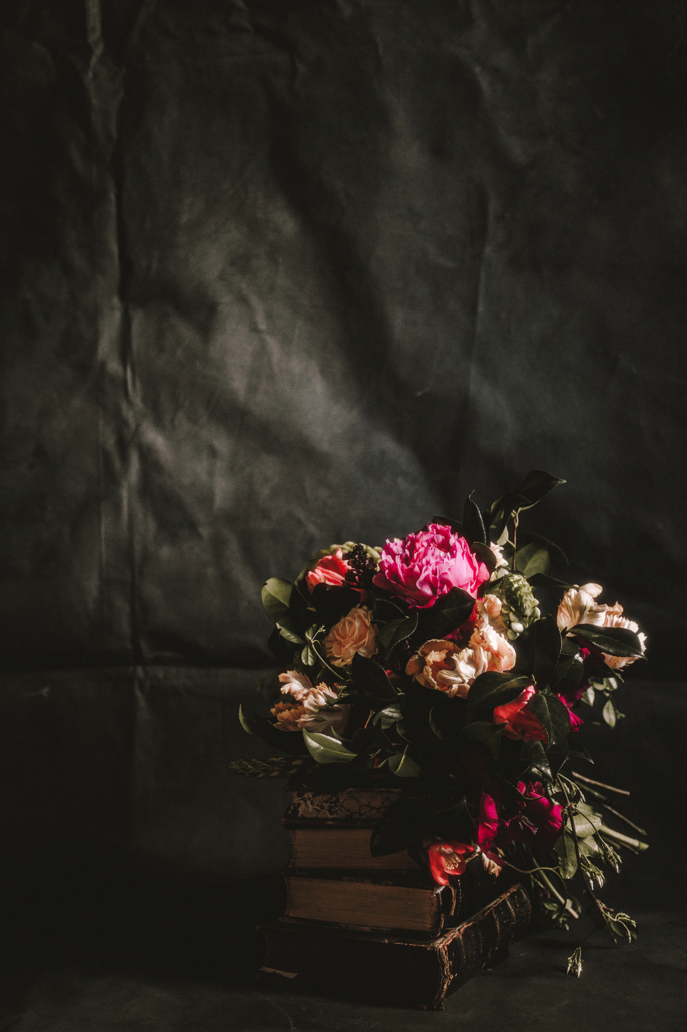 Houston Events- Maxit Flower Design- Dark Flowers Shoot- Bridal Bouquet