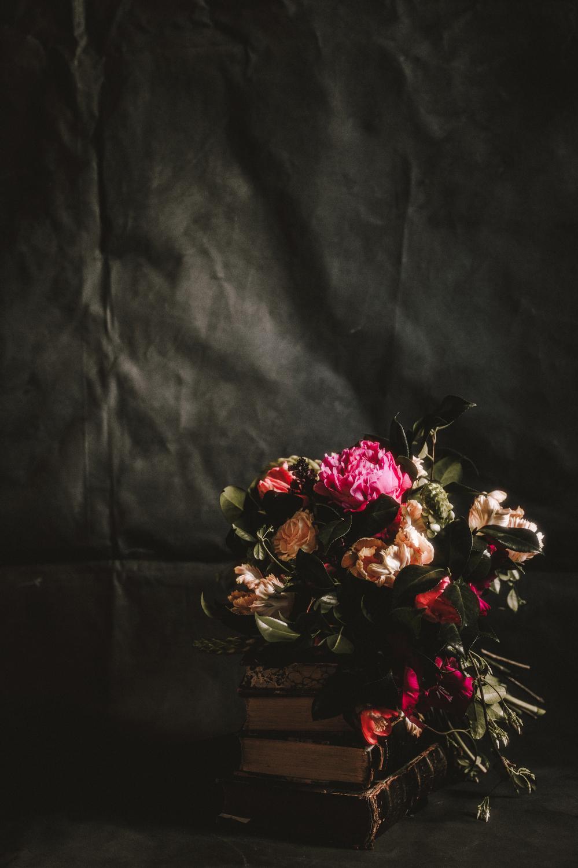 Houston Events- Maxit Flower Design- Dark Flowers Shoot- Bridal Bouquet