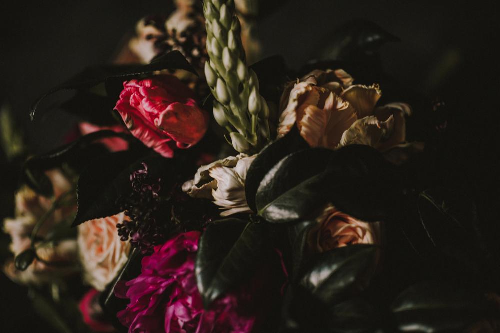 Maxit Flower Design Dark Flowers Photoshoot- Close Up Flower Detail