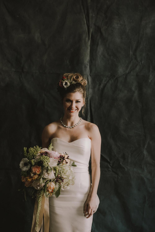 Dark Flowers Bride- Maxit Flowers- Houston Weddings