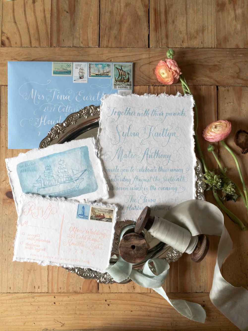 Hand Lettering- Houston Weddings- Maxit Flower Design