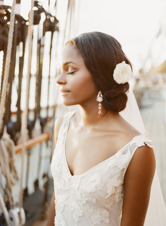 Bride Classic Hair Piece- Maxit Flower Design- Houston Weddings