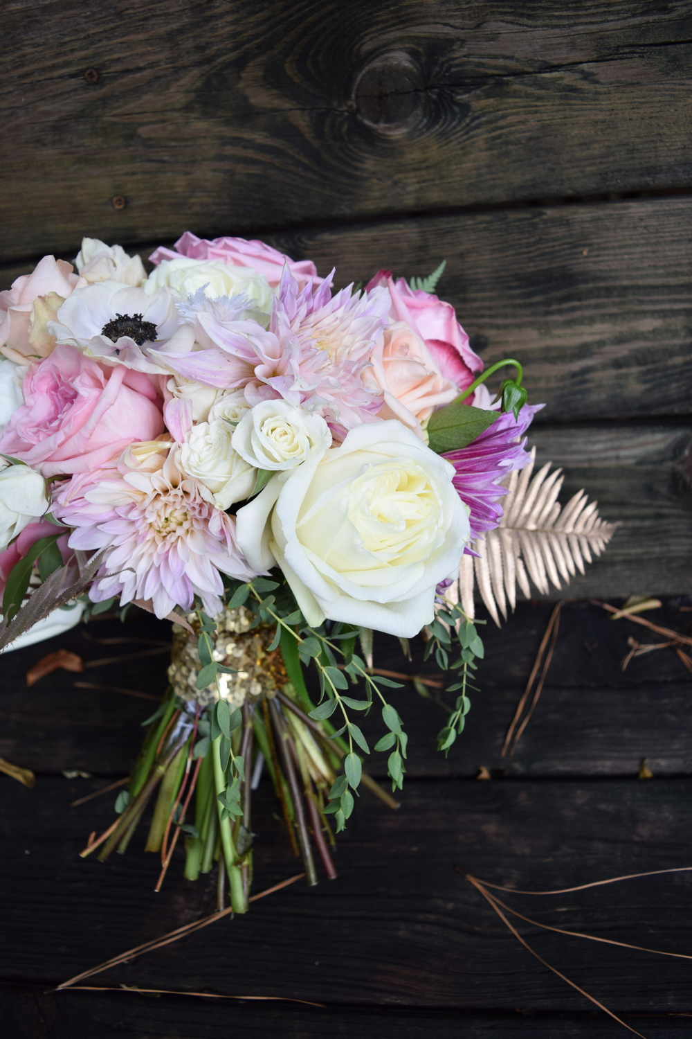Maxit Flower Design; Houston Bridal Bouquet, Dalhias, gold, blush